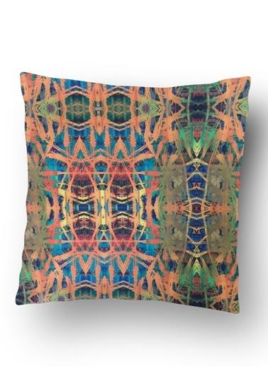 Lyn Home & Decor Turuncu Desenler Yastık Kılıfı Renkli